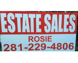 Rosie estate sale