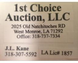 1st Choice Auction, LLC